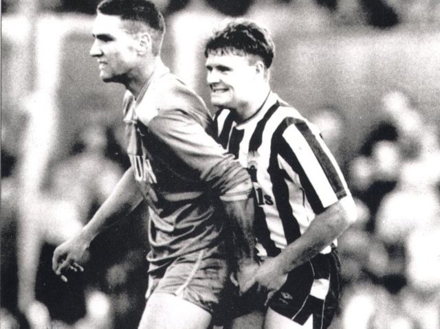 Vinnie Jones and Paul Gascoigne