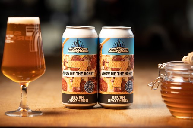 The beer - named Show Me The Honey - was developed by the SEVEN BRO7HERS brewing team to replicate the taste of pizza (Photo: Chicago Town)