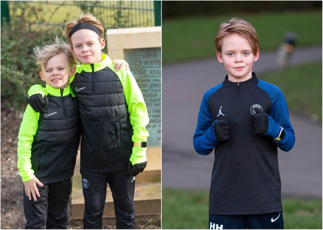 Henry Hogan,10, started his running streak on January 11.