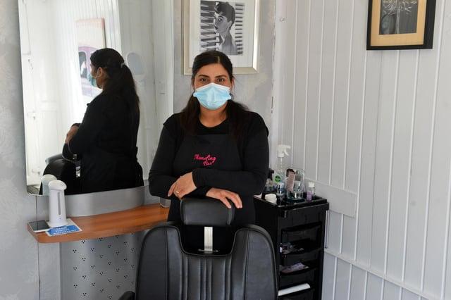 Threading Bar owner Gurpreet Kaur at her new business on Dean Road, Westoe Village.
