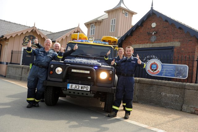 Members of South Shields Volunteer Life Brigade (SSVLB) celebrate their Queens Award in the Queen's Birthday Honours.