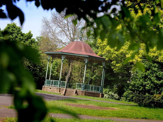The bandstand at West Park in South Shields.