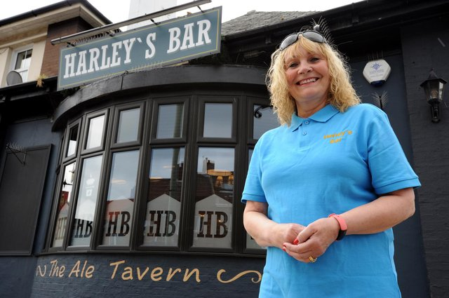 Harley's Bar owner Charlotte Bell.