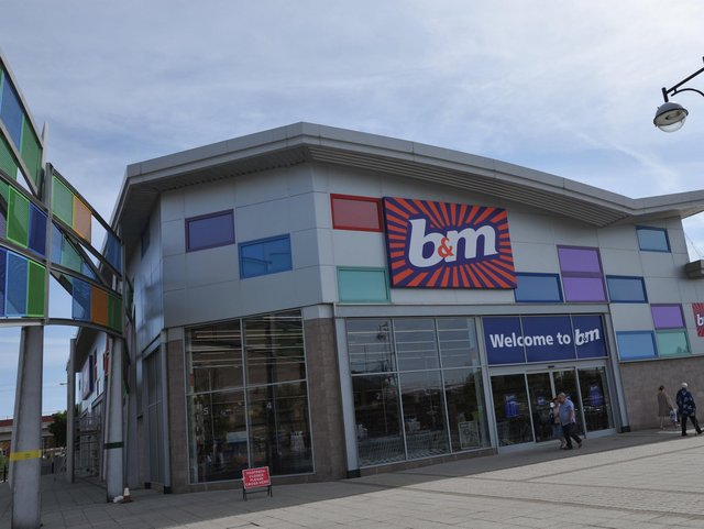 The B&M Bargains store in Waterloo Square, South Shields.