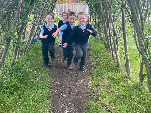 Children at St Aloysius Catholic Infant and Junior School in Hebburn