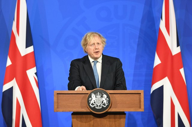 """Boris Johnson has urged the nation to """"behave responsibly"""" when pub gardens reopen and restaurants resume outdoor dining in a major easing of England's lockdown. Picture: PA."""