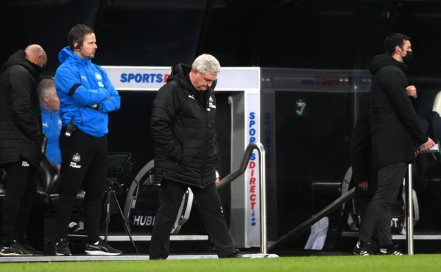 Newcastle United head coach Steve Bruce is fighting to keep the club in the Premier League. (Photo by Stu Forster/Getty Images)