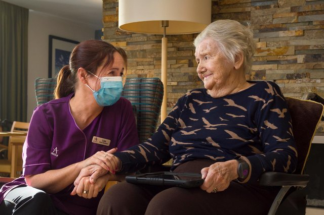Staff and residents at Palmersdene Care Home in Jarrow