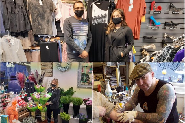 Kaz Chowdhury pictured at The Outlet on King Street (above, left); Courtney Dadswell, from Marion's Florist (below, left); Chris Wright, of the Viking Tattoo Studio in Jarrow (below, right)