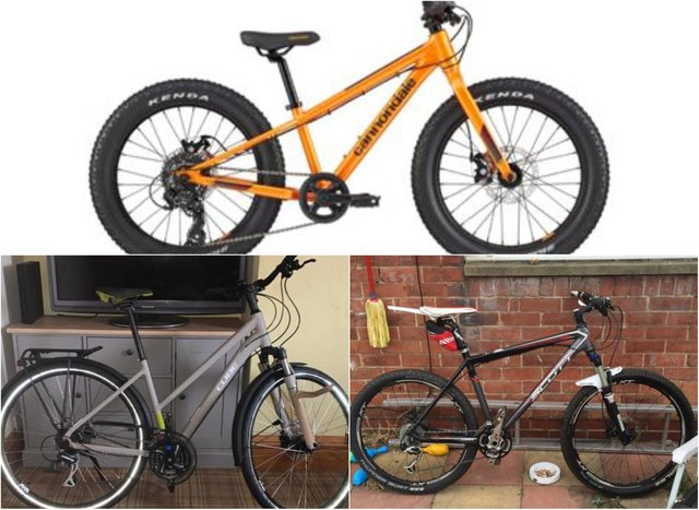 Angi, her partner and her son's bike were all stolen.