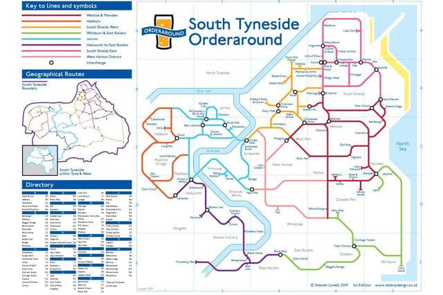 Steve Lovell's South Tyneside Orderaround map.
