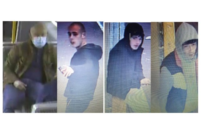 The images released by British Transport Police