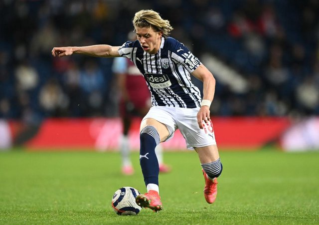 Chelsea's Conor Gallagher during a loan spell at West Brom.