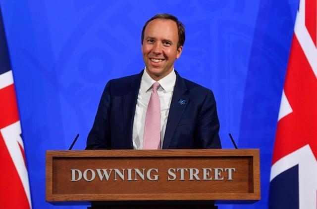 Matt Hancock will take a Downing Street press conference today