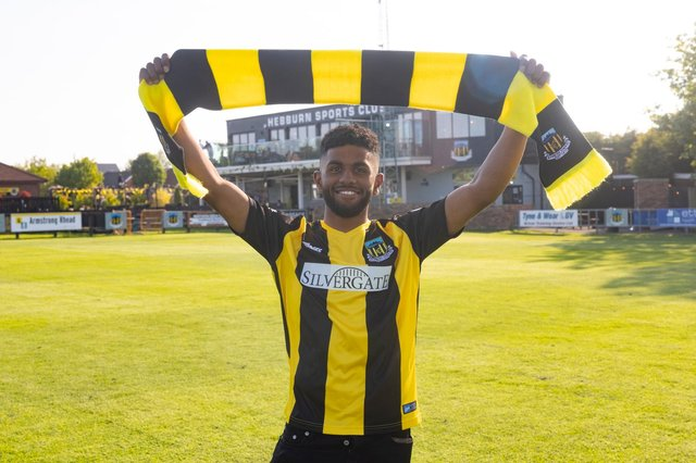 Hebburn Town have announced the signing of highly-rated Consett forward Ali Alshabeeb. (Photo credit: Hebburn Town)