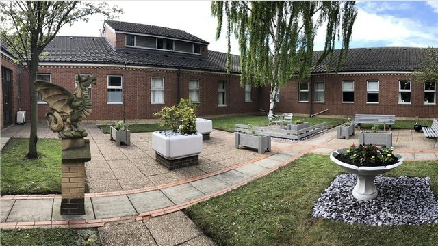 The new-look courtyard at Palmer Community Hospital