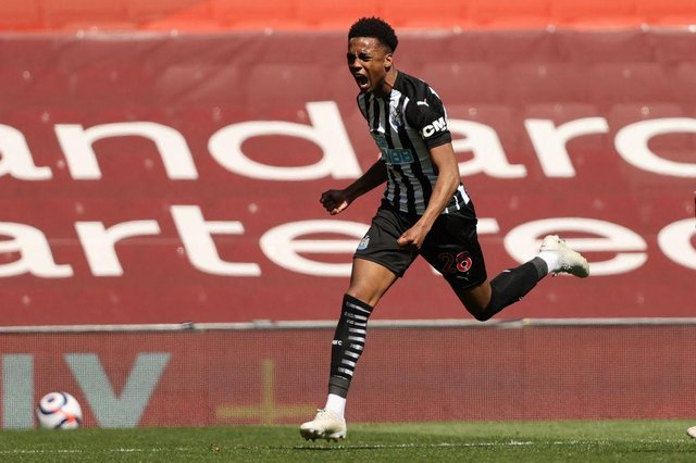 Arsenal are reportedly open to offers for on-loan Newcastle United midfielder Joe Willock. (Photo by CLIVE BRUNSKILL/POOL/AFP via Getty Images)