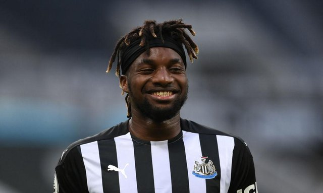 Newcastle United winger Allan Saint-Maximin. (Photo by Stu Forster/Getty Images)
