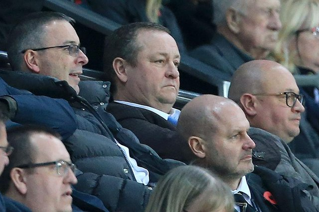 Newcastle United's English owner Mike Ashley (C) watches during the English Premier League football match between Newcastle United and Bournemouth at St James' Park in Newcastle-upon-Tyne, north east England on Novmeber 10, 2018.