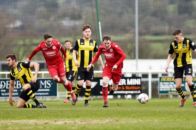 Hebburn Town pictured during the side's match against Longridge Town FC in the FA Vase fifth round match at the Mike Riding Ground in February last year.