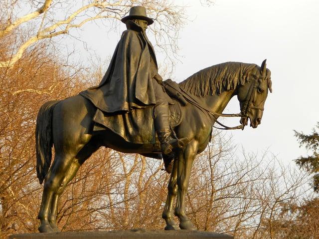 A monument to Ulysses S. Grant in Philadelphia