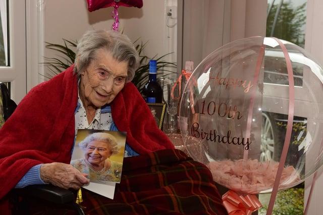 Celebrating her 100th birthday on Bank Holiday Monday, Helen Cowdery, of Roseway House, Wear Street, Jarrow.