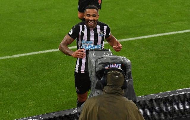 Newcastle striker Callum Wilson.