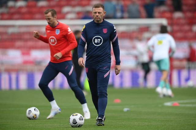 Newcastle United assistant coach Graeme Jones pictured on England duty. (Photo by Stu Forster/Getty Images)
