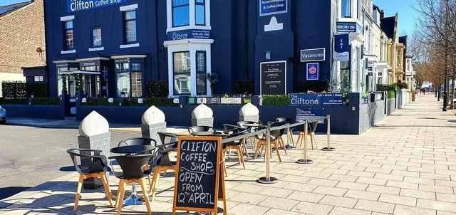 The Clifton Hotel and Coffee Shop will now offer outdoor seating on Ocean Road when it reopens on April 12.