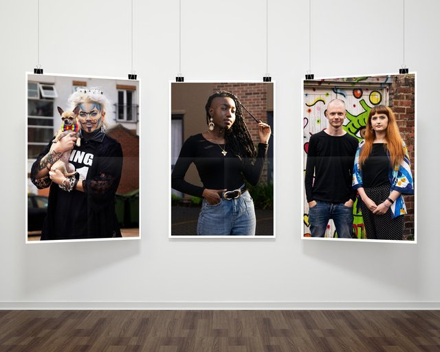 Mock-up sample image of the upcoming 'Life in Lockdown' exhibition.
