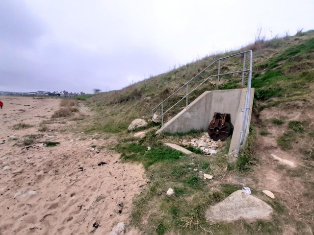 The Whitburn Long Sea Outfall sewer overflow.