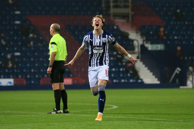 On-loan West Brom midfielder Conor Gallagher is reportedly attracting interest from Newcastle United. (Photo Lindsey Parnaby - by Pool/Getty Images)