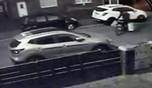 Police have said the suspect cycled from street to street./Photo: Northumbria Police