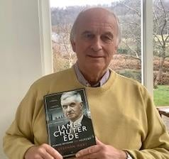 Author Stephen Hart with his new book