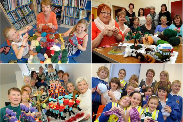 Smiles galore from these keen knitters. Recognise them?