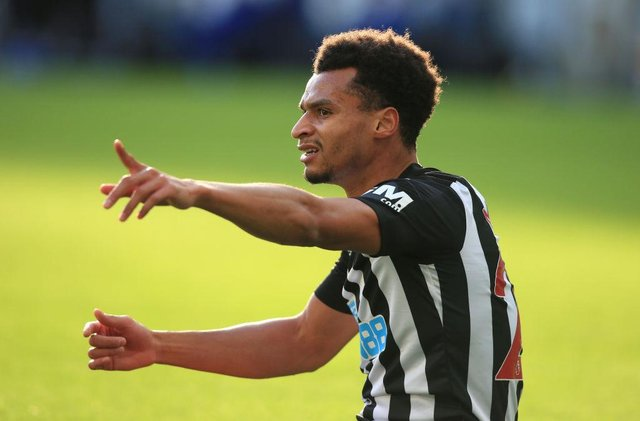 Newcastle United winger Jacob Murphy. (Photo by Lindsey Parnaby - Pool/Getty Images)