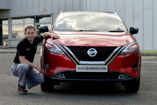 Alan Johnson, Vice President of Manufacturing at Nissan (UK), with the third generation Qashqai that has just started production.