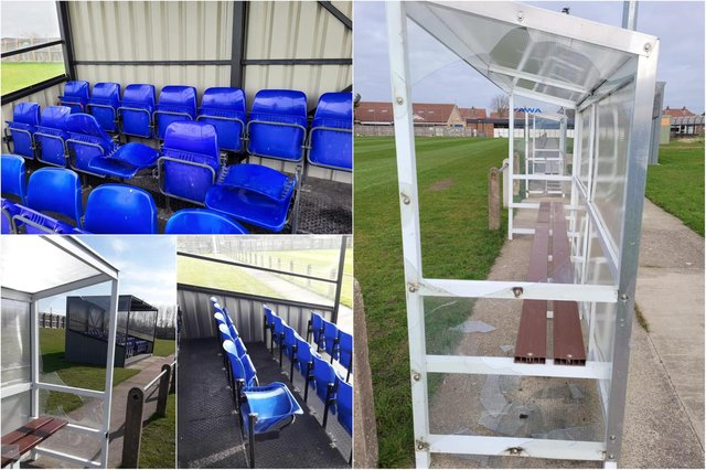Damage caused by yobs at Jarrow FC's home ground at Perth Green Community Centre