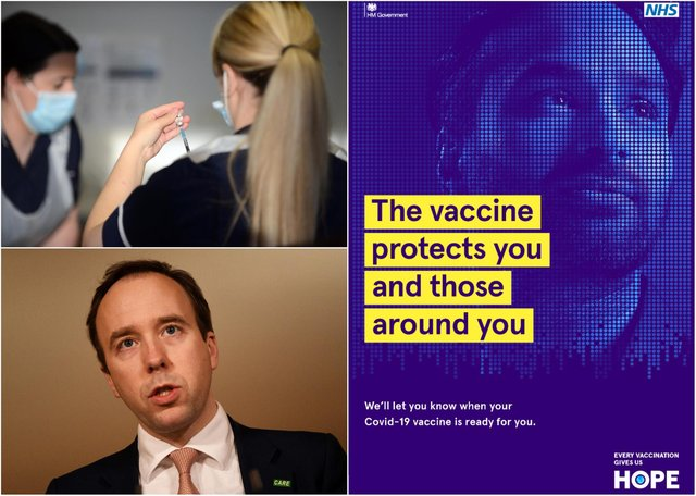 The 'every vaccination gives us hope' campaign encourages those due to be offered vaccines in the second phase of the rollout to get the jab.