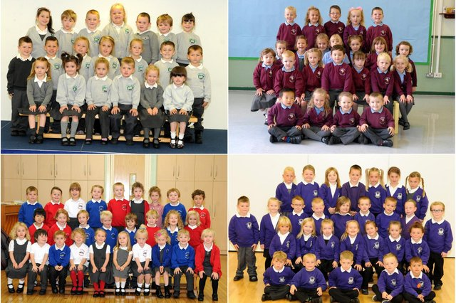 Is there a familiar face in one of these reception class scenes?