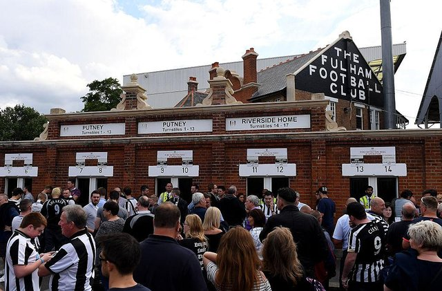 Newcastle United fans at Craven Cottage in 2016.