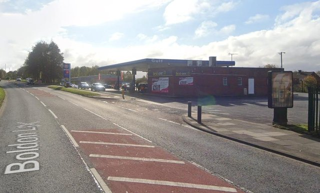 He was caught by police at the petrol station in Boldon Lane
