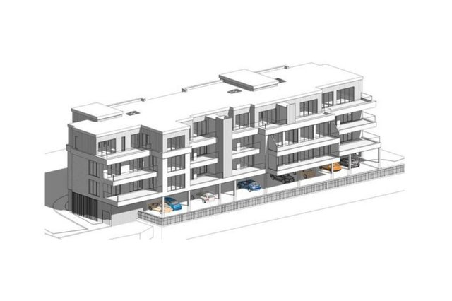 A 3D image of the proposed apartment complex off Long Row, South Shields.