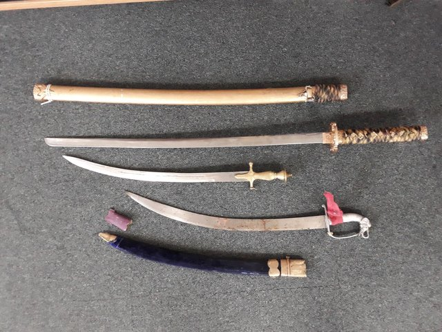 Some of the blades handed in were collectors' items.