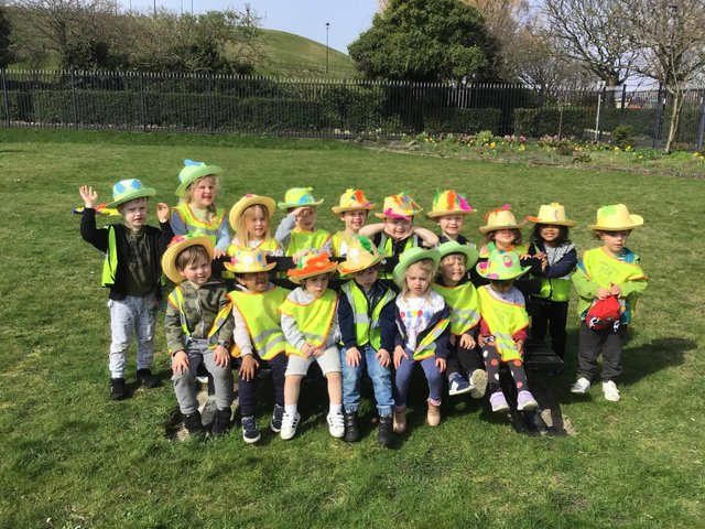 Nurserytime South Shields children celebrating spring with an Easter bonnet parade