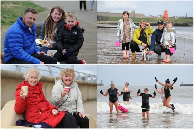 Families were out and about at South Shields seafront on Good Friday making the most of the sunny weather.