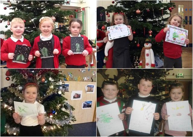 L'école primaire de South Shields aide à répandre la joie de Noël auprès des résidents des foyers