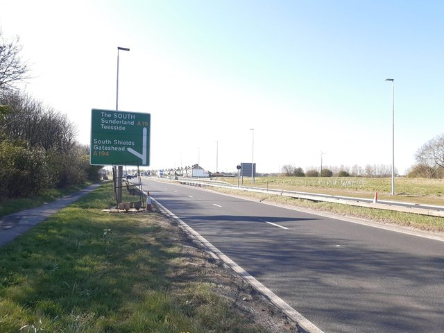 Officers are investigation a crash on the A19, in which a man died at the scene.