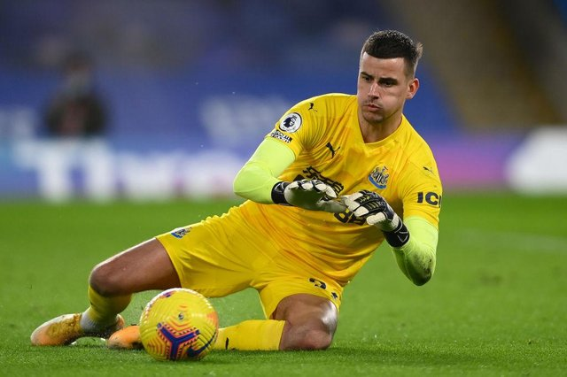Newcastle United goalkeeper Kar Darlow is reportedly wanted by Watford. (Photo by Mike Hewitt/Getty Images)