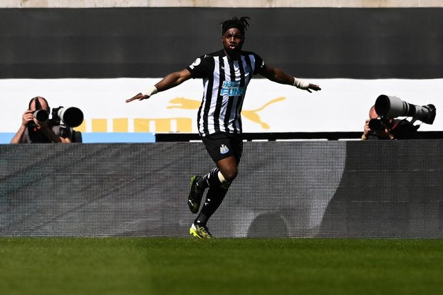 Newcastle United star Allan Saint-Maximin is being linked with a summer move to Roma. (Photo by STU FORSTER/POOL/AFP via Getty Images)